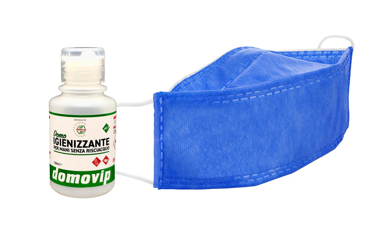 KIT Azzurra Domo-Mascherina + Igienizzante