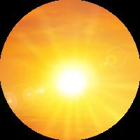 icona raggi UV
